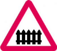 Level Crossing With Gate Or Berrier